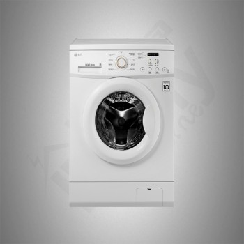 LG Auto Washing Machine/Front Load/7Kg/White - (WFP710HWHT)